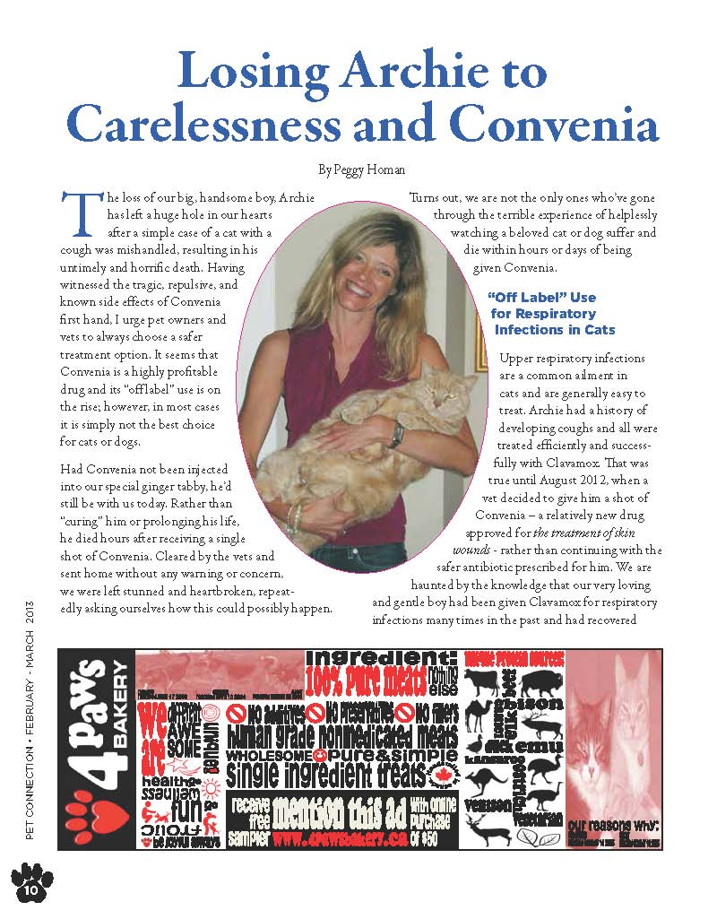 Pet Connection_Article by Peggy Horman_Page_1